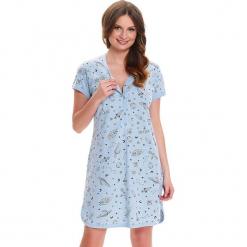 Koszula nocna w kolorze jasnoniebiesko-szarym. Niebieskie koszule nocne i halki Doctor Nap. W wyprzedaży za 59,95 zł.