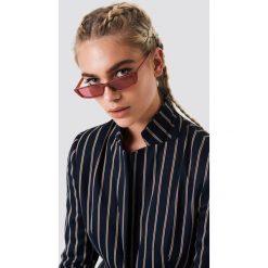 Okulary przeciwsłoneczne damskie aviatory: NA-KD Urban Prostokątne okulary przeciwsłoneczne - Red