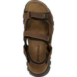 Sandały CREE. Brązowe sandały męskie skórzane Gino Rossi, na rzepy. Za 99,90 zł.
