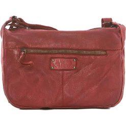 Torebki klasyczne damskie: Skórzana torebka w kolorze czerwonym – 26 x 21 x 9 cm