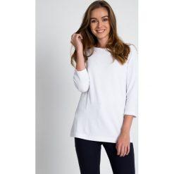 Bluzki damskie: Biała bluzka z delikatną strukturą QUIOSQUE
