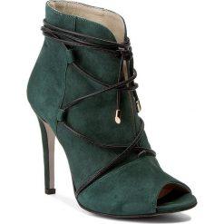 Botki BALDACCINI - 934500-H Ziel Zamsz/Cz. Rzemyk. Zielone buty zimowe damskie Baldaccini, ze skóry, na obcasie. W wyprzedaży za 259,00 zł.