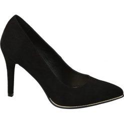 Szpilki damskie Graceland czarne. Czarne szpilki marki Graceland, w kolorowe wzory, z materiału. Za 99,90 zł.