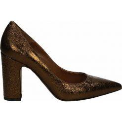 Czółenka - 1052 ARIS BRO. Brązowe buty ślubne damskie Venezia, ze skóry. Za 189,00 zł.