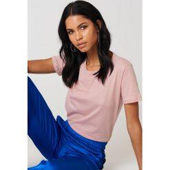 NA-KD Basic T-shirt basic - Pink. Różowe t-shirty damskie marki NA-KD Basic, z bawełny. Za 27,95 zł.