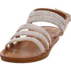 Rzymianki damskie: Sandały w kolorze piaskowym