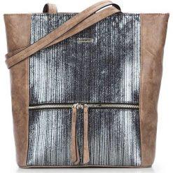 Torebka damska 87-4Y-762-4. Brązowe shopper bag damskie Wittchen, na ramię, matowe. Za 129,00 zł.