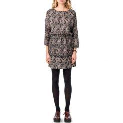 Długie sukienki: Prosta, krótka, sukienka z krótkim rękawem i nadrukiem