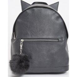 Plecaki damskie: Plecak z uszami – Czarny