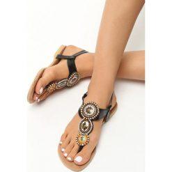 Rzymianki damskie: Czarne Sandały Secret