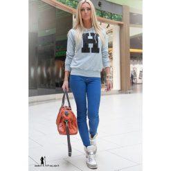Bluza JSzary/Czarny F205. Czarne bluzy damskie marki Fasardi, m, z dresówki. Za 39,00 zł.