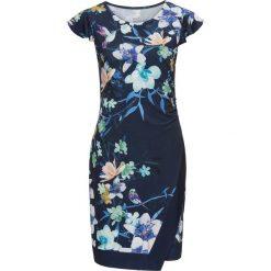 Sukienki: Sukienka z dżerseju w kwiatowy deseń bonprix kobaltowy z nadrukiem