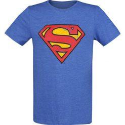 T-shirty męskie: Superman Logo Vintage T-Shirt odcienie niebieskiego