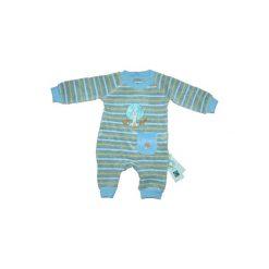 Ebi & Ebi  Fairtrade Śpioszki, jasnoniebieski. Niebieskie śpiochy niemowlęce marki Ebi & Ebi, z bawełny, z długim rękawem. Za 65,00 zł.