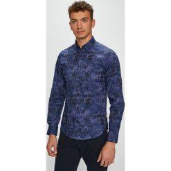 S. Oliver - Koszula. Szare koszule męskie na spinki S.Oliver, l, z bawełny, z włoskim kołnierzykiem, z długim rękawem. Za 169,90 zł.