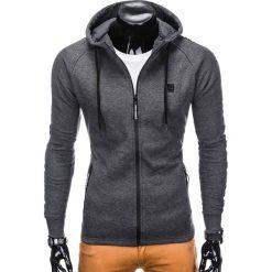 Bluzy męskie: BLUZA MĘSKA ROZPINANA Z KAPTUREM B741 - GRAFITOWA