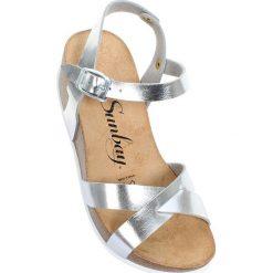"""Rzymianki damskie: Sandały """"Pivoine"""" w kolorze srebrnym"""