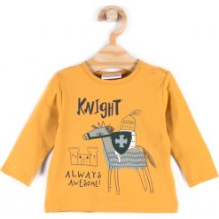 Koszulka. Pomarańczowe t-shirty chłopięce z długim rękawem KNIGHT, z aplikacjami, z bawełny. Za 27,90 zł.