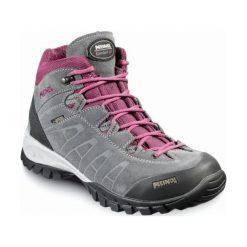 Buty trekkingowe damskie: MEINDL Buty damskie Piemont Lady Mid GTX szaro-fioletowe r. 38.5 (5268)