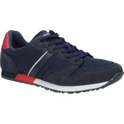 Granatowe buty sportowe sznurowane American FH17014. Czarne halówki męskie American. Za 89,99 zł.