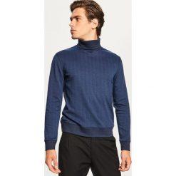 Bluza w jodełkę z golfem - Granatowy. Czerwone bluzy męskie rozpinane marki KALENJI, m, z elastanu, z długim rękawem, długie. Za 99,99 zł.