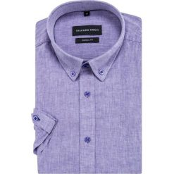 Koszula SIMONE KLFR500033. Niebieskie koszule męskie na spinki Giacomo Conti, na lato, m, z bawełny, button down, z krótkim rękawem. Za 169,00 zł.