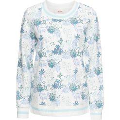 Bluzy damskie: Bluza z nadrukiem, długi rękaw bonprix biel wełny z nadrukiem
