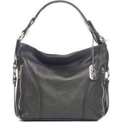 Torebki klasyczne damskie: Skórzana torebka w kolorze czarnym – 32 x 25 x 10 cm