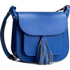 Torebka CREOLE - K10197 Niebieski. Niebieskie listonoszki damskie Creole. W wyprzedaży za 199,00 zł.