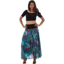 Odzież damska: Spódnica w kolorze turkusowo-czerwonym