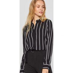 Koszula w pionowe pasy - Czarny. Czarne koszule damskie Cropp, l. Za 69,99 zł.