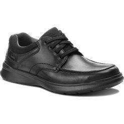 Półbuty CLARKS - Cotrell Edge 261373857  Blk Smooth Leather. Czarne półbuty skórzane męskie Clarks. W wyprzedaży za 219,00 zł.
