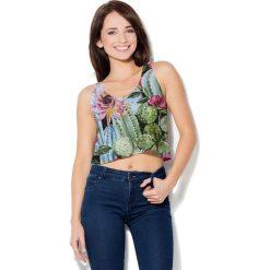 Colour Pleasure Koszulka damska CP-035 8 zielono-błękitno-różowa r. XS-S. Bralety Colour pleasure, s. Za 64,14 zł.