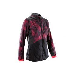 Bluza na zamek fitness kardio 520 damska. Czarne bluzy rozpinane damskie marki DOMYOS, z elastanu. W wyprzedaży za 59,99 zł.