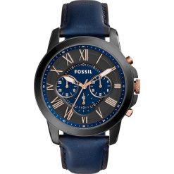 Zegarek FOSSIL - Grant FS5061 Blue/Black. Niebieskie zegarki męskie Fossil, ze stali. Za 699,00 zł.