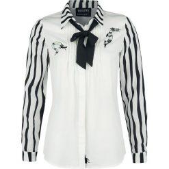 Beetlejuice Logo Bluzka damska czarny/biały. Białe bluzki koszulowe marki Beetlejuice, xl, z aplikacjami, z długim rękawem. Za 164,90 zł.