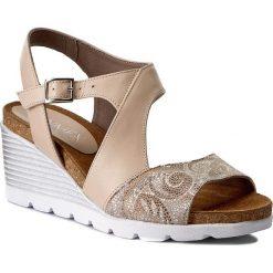 Rzymianki damskie: Sandały ANN MEX – 7719 03KE+03S Beż