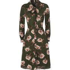 Voodoo Vixen Nora Floral 40s Style Tea Dress Sukienka wielokolorowy. Brązowe sukienki z falbanami Voodoo Vixen, s, z materiału, z kokardą. Za 284,90 zł.