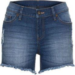 """Krótkie spodenki dżinsowe bonprix niebieski """"stone"""". Niebieskie bermudy damskie bonprix, z jeansu. Za 69,99 zł."""
