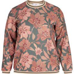 Bluza z nadrukiem. Szare bluzy z nadrukiem damskie Zizzi, z długim rękawem, długie. Za 218,36 zł.