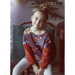 Bluzki dziewczęce bawełniane: Bluzka dziecięca luźny krój