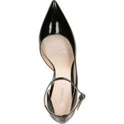 Czółenka SAVONA. Czarne buty ślubne damskie Gino Rossi, w paski, z lakierowanej skóry, na wysokim obcasie, na szpilce. Za 149,90 zł.