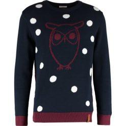 Kardigany męskie: Knowledge Cotton Apparel OWL Sweter total eclipse