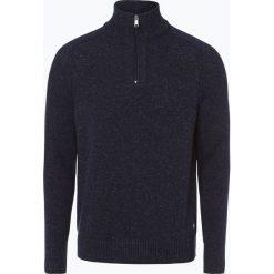 Marc O'Polo - Sweter męski z dodatkiem lnu, niebieski. Niebieskie swetry klasyczne męskie marki Reserved, l, polo. Za 399,95 zł.
