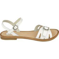 """Sandały damskie: Skórzane sandały """"Extraverti"""" w kolorze białym"""