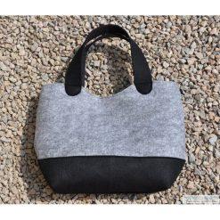 Torba filcowa - shopper bag. Szare shopper bag damskie marki Monnari, w paski, ze skóry ekologicznej. Za 120,00 zł.