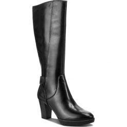 Kozaki TAMARIS - 1-25525-21 Black 001. Czarne buty zimowe damskie Tamaris, ze skóry, przed kolano, na wysokim obcasie, na obcasie. Za 499,90 zł.