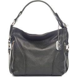 Torebki klasyczne damskie: Skórzana torebka w kolorze czarnym - 32 x 25 x 10 cm