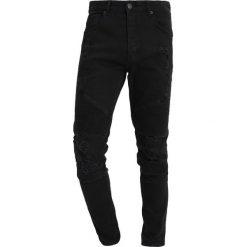 Jeansy męskie regular: Cayler & Sons ALLDD BIKER IAN PANTS Jeansy Slim Fit black
