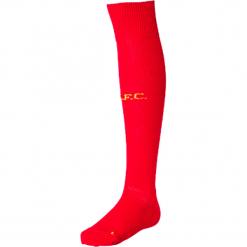 Getry Liverpool LFC Home Kit. Czerwone skarpetogetry piłkarskie New Balance, z elastanu. W wyprzedaży za 29,99 zł.